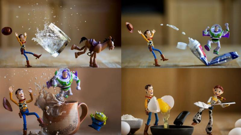Los Angeles-based photographer Mitchel Wu uses the Toy story movie characters in the most funny and interesting situations. (Photo: Instagram/MitchelWuPhotography)