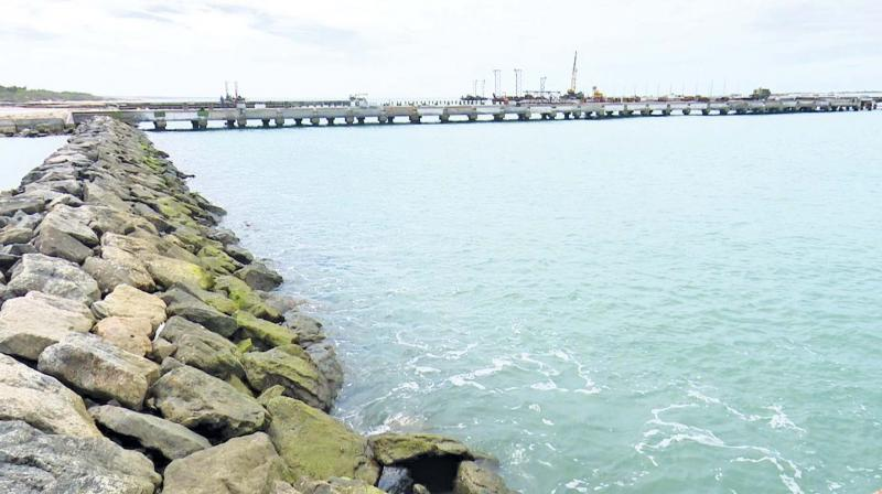 Work on the project started in June last year and now over 70 per cent of the civil works have been completed, said Muruganandham, secretary of the State Fish workers Association. The fish landing platforms have been constructed where fishermen's boats could land their fish catch.