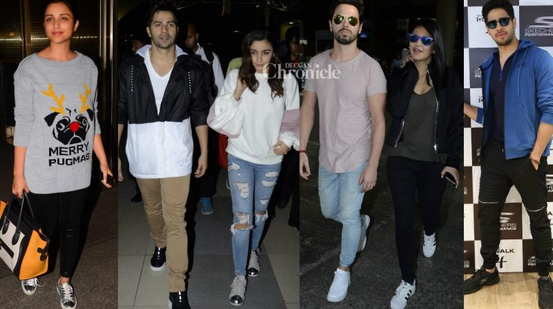 Paparazzi captured Bollywood stars at various events and locations on Monday. (Photo: Viral Bhayani)