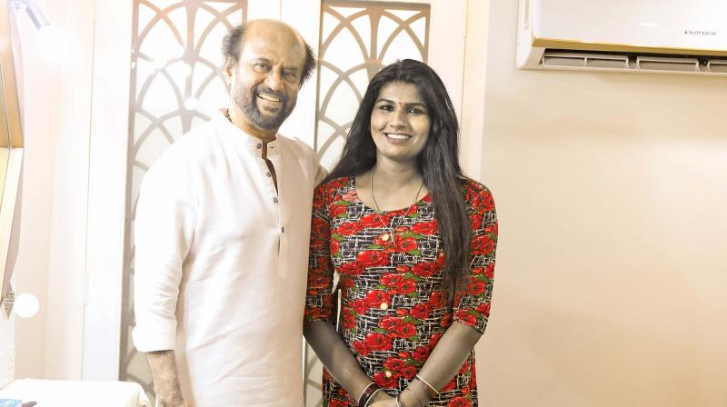 Jeeva Subramanian with Rajinikanth
