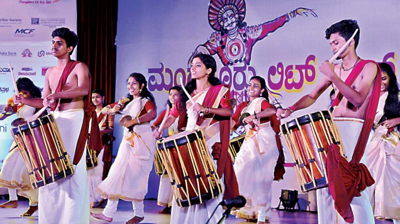 Artists perform at the Mangaluru Lit Fest