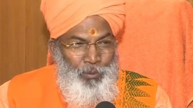 Maharaj's statement comes at a time when scores of political leaders are seeking a government ordinance for early construction of Ram temple in Ayodhya. (Photo :ANI)