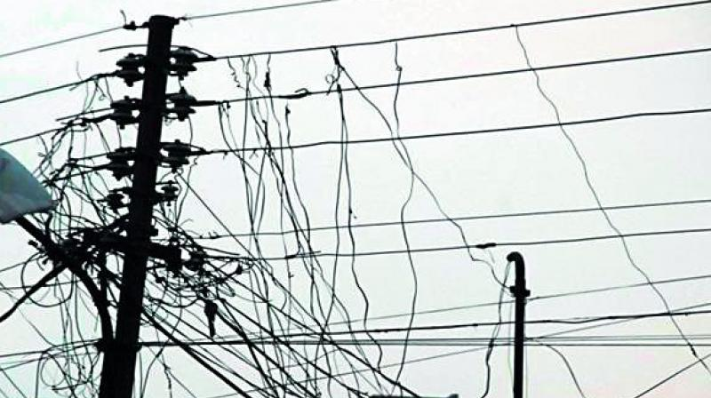 According to an estimate, power worth Rs 1 crore-Rs 2 crore is being pilfered every month in Khammam district.