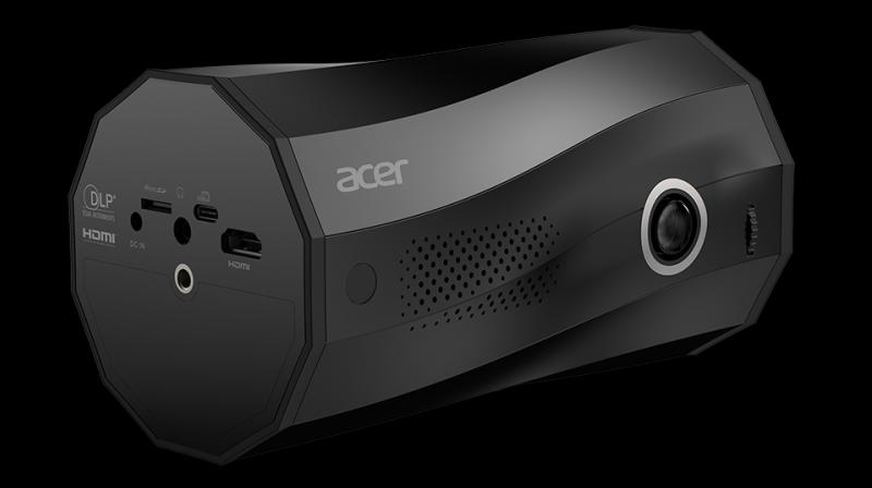 Unlike other projectors limited to horizontal throws, the C250i supports stand-free multi-angle projection thanks to its unique twisted roll design.