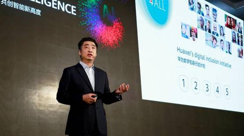 In his speech, Hu elaborated on Huawei's TECH4ALL initiative and shared the initiative's current progress.