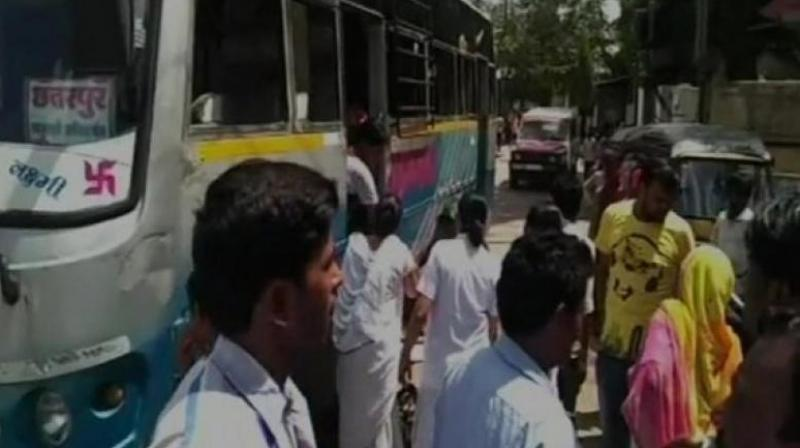 Her husband has alleged that despite her condition, she wasn't provided any ambulance. (Photo: ANI)