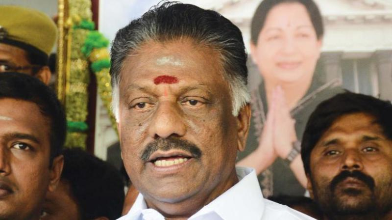 O Panneerselvam had on June 11 disbanded a seven-member panel formed by his faction to hold merger talks with the Amma camp. (File photo)
