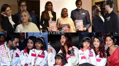 It was Bachchan power on Wednesday as the members of the 'First Family' stepped out for two separate events. (Photos: Viral Bhayani)