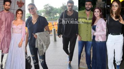Thank god, celebrities stepped out, is what paparazzi thought as they snapped them at various locations in Mumbai on Wednesday. (Photos: Viral Bhayani)