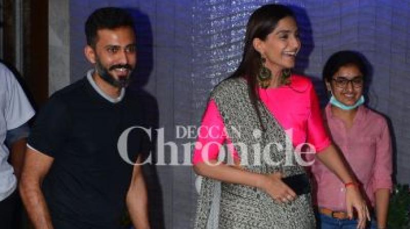 Sonam Kapoor and Anand Ahuja at their outing before the wedding.