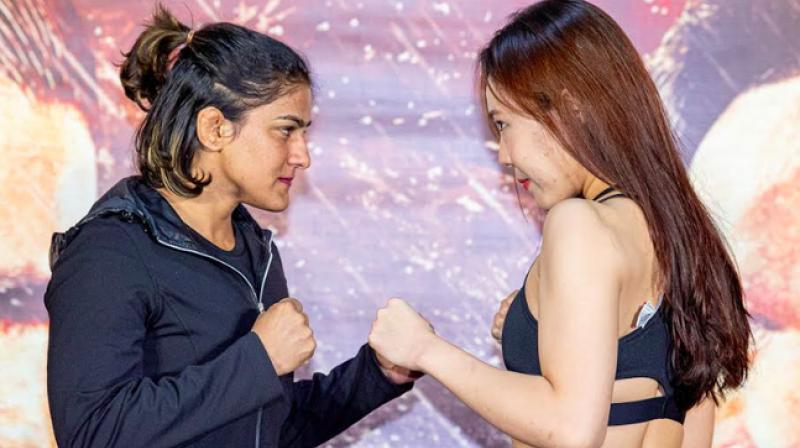 Wrestler Ritu Phogat will make her Mixed Martial Arts (MMA) debut on November 16 as she squares off against Korea's Nam Hee Kim. (Photo:Twitter)