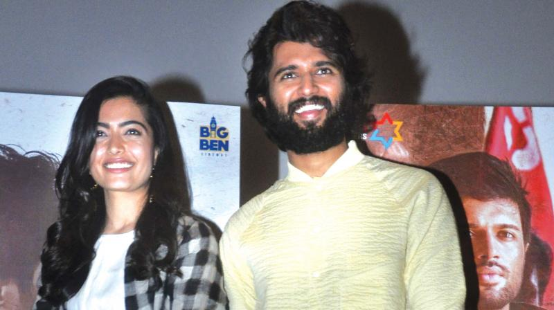 Rashmika Mandanna and Vijay Deverakonda (Photo: Sunoj Ninan Mathew)