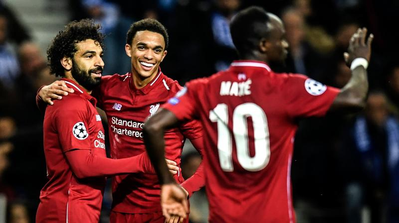 Liverpool are now undefeated in their last 17 games in all competitions as they seek a Premier League-Champions League double.(Photo: AFP)