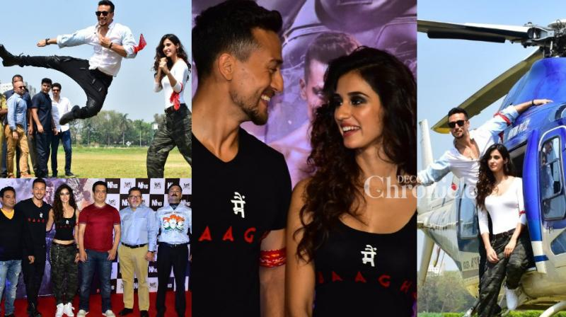 The team of 'Baaghi 2' launched the trailer of the action film in a grand manner in Mumbai on Wednesday. (Photo: Viral Bhayani)