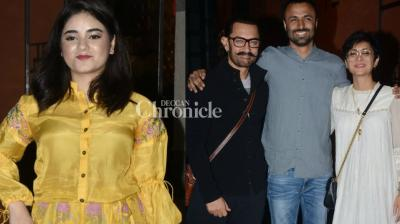 Aamir Khan hosted a party for the team of his film 'Secret Superstar' in Mumbai on Wednesday. (Photo: Viral Bhayani)