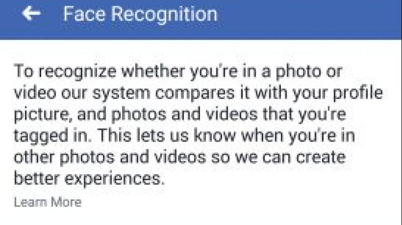 Facebook lets users know when their pictures pop up