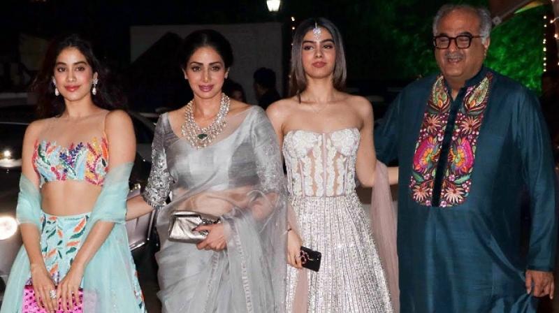 Janhvi Kapoor, Sridevi, Khushi Kapoor and Boney Kapoor.