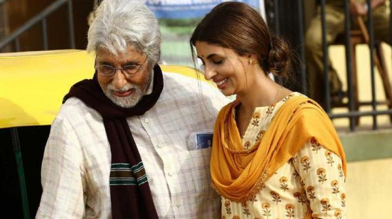 Amitabh and Shweta Bachchan.