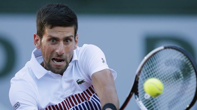 The 30-year-old Serb saw his French Open title defence come to a surprise halt with a straight sets quarter-final loss to the up-and-coming Dominic Thiem on the clay courts of Roland Garros in Paris earlier this month.(Photo: AP)