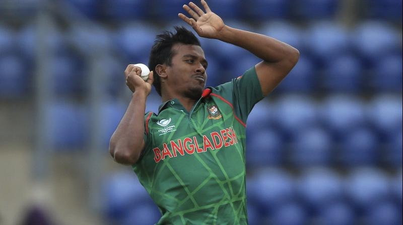 Rubel Hossain featured in all four of Bangladesh's Champions Trophy matches but claimed just two wickets at an average of 95.50.(Photo: AP)