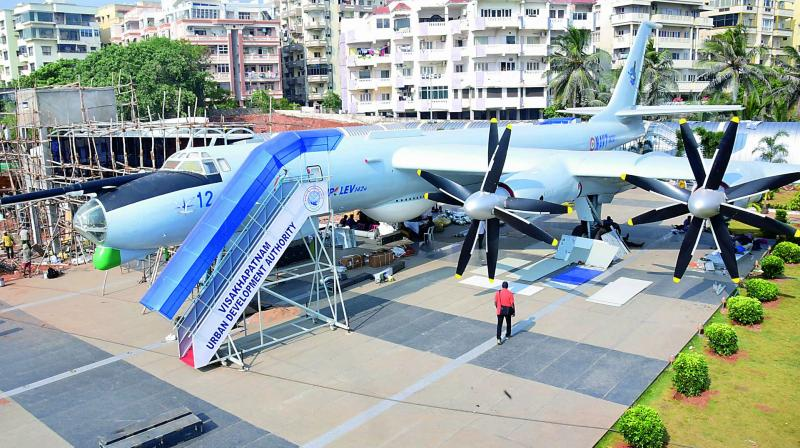 TU-142 aircraft museum is set for inauguration. President Kovind will inaugurate the museum on Thursday.	(Photo: DC)