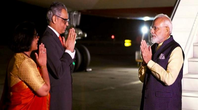 After completing his engagements in Houston, PM Modi reached New York to attend the 74th United Nations General Assembly (UNGA) session. (Photo: ANI)