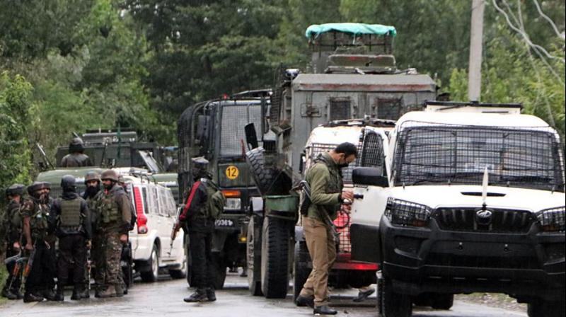 'Driver of the vehicle is injured and has put under specialist care. Condition of other soldiers who were brought to a hospital with minor bruises and concussion/contusion is stable,' the Army said in a statement earlier. (Photo: ANI)