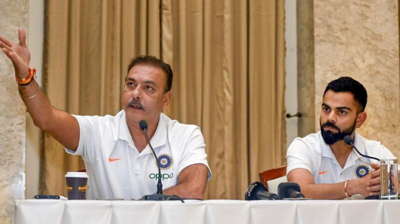 Ravi Shastri and Virat Kohli (Photo: AFP)
