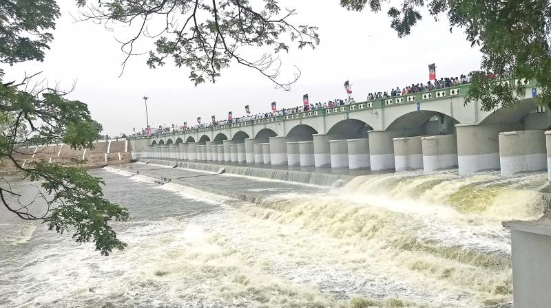 Rainfall in the Cauvery catchment areas of Kodagu district in Karnataka and Wayanad in Kerala state has resulted in increased inflows into the dams including KRS, Kabini and Harangi in upper riparian state, Karnataka.