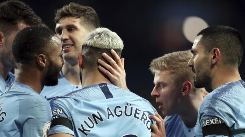 City and Liverpool are both on 65 points with City having the better goal difference although they have played one more game than their rivals. (Photo: AP)
