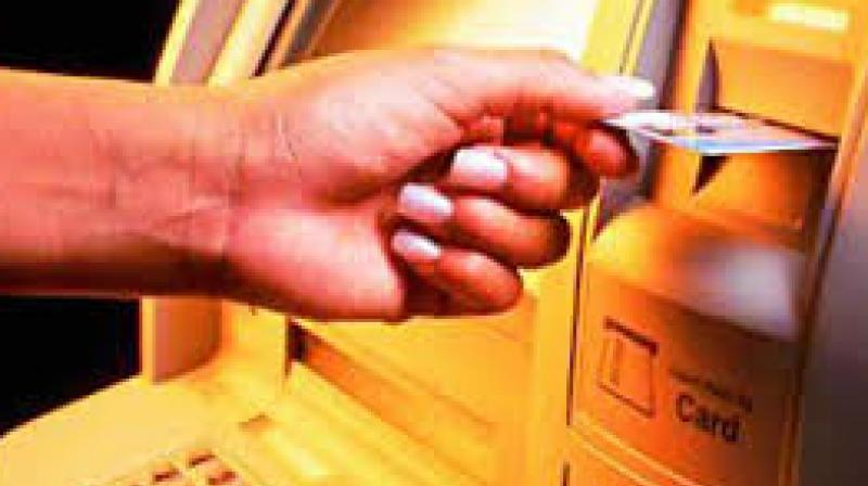 ATMs in many areas of Kurnool put up boards saying 'No cash' and 'Out of service'. Pilgrims at Srisailam and Mantralayam faced hardships as ATMs had  gone dry. There are around 34 banks and they were extending services to the people by setting 445 branches, besides 485 ATMs. (Representational image)