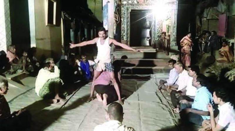 Clip shows the Odisha teacher being forced to crawl between the legs of a local goon (Photo: DC)