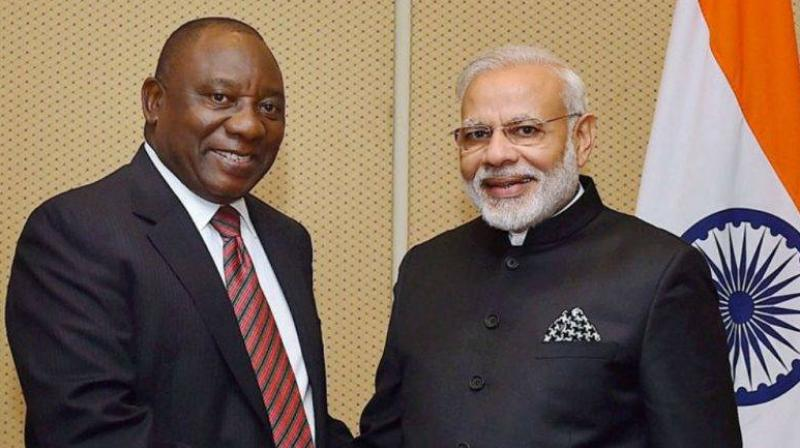 Ramaphosa was invited to be the chief guest by Prime Minister Narendra Modi when the two leaders met on the sidelines of the G20 summit in Argentina's capital Buenos Aires. (Photo: PTI)