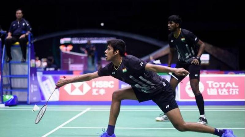 Satwiksairaj Rankireddy and Chirag Shetty, who had won their maiden Super 500 title at the Thailand Open in August before reaching the finals at the French Open Super 750. (Photo: AFP)