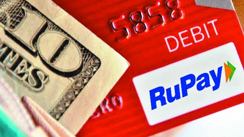 The numbers are significant considering the fact that only 35.65 million transactions valuing Rs 5,050 crore were executed using RuPay cards during the whole of FY16.