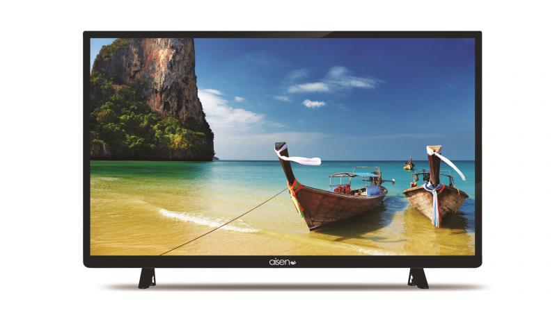 The TV claims to deliver a 'Trulife' picture quality and with a sleek bezel design.