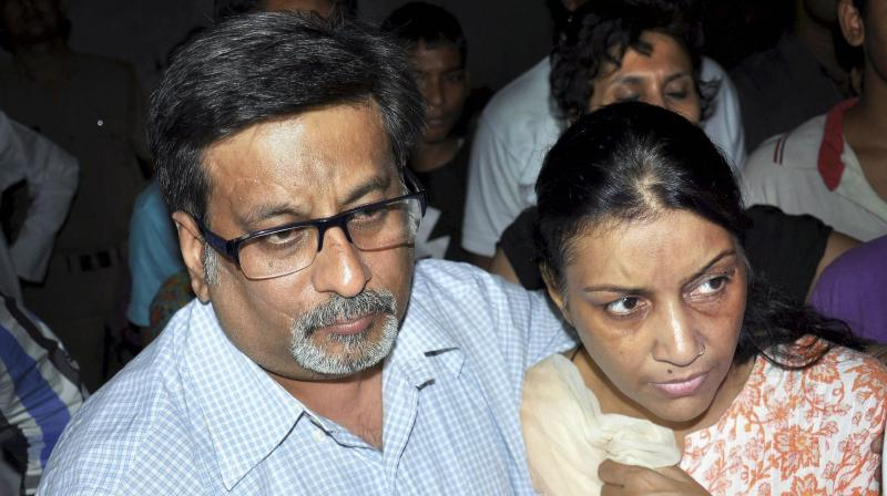 The dentist couple, Nupur and Rajesh Talwar, were on Thursday acquitted in the double murder case of their daughter Aarushi and maid servant Hemraj in Noida in May 2008. (Photo: PTI)