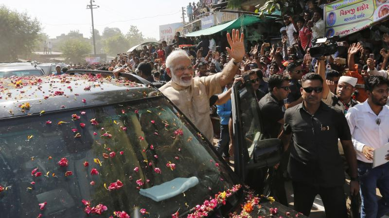 Prime Minister Narendra Modi will hold a mega rally in Gandhinagar, Gujarat, next week. (Photo: PTI/File)