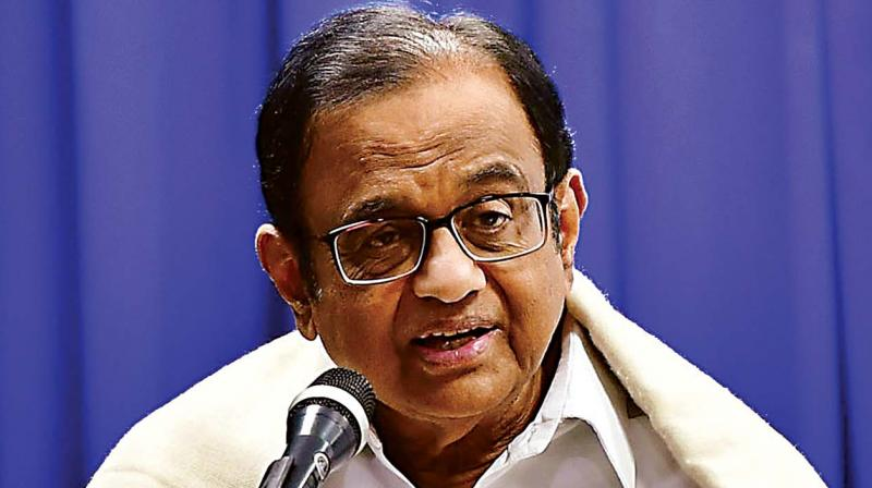 Senior Congress leader and former Union finance minister P Chidambaram. (Photo:KPN)
