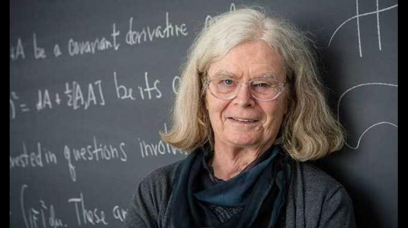 American Karen Uhlenbeck won the Abel Prize in mathematics for her work on partial differential equations. (Photo: AFP)