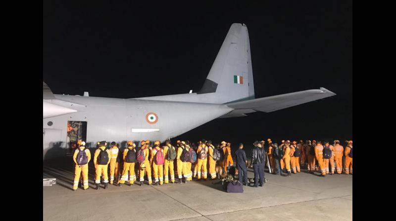 NDRF and SDRF teams are engaged in the rescue operation. (Photo: ANI)
