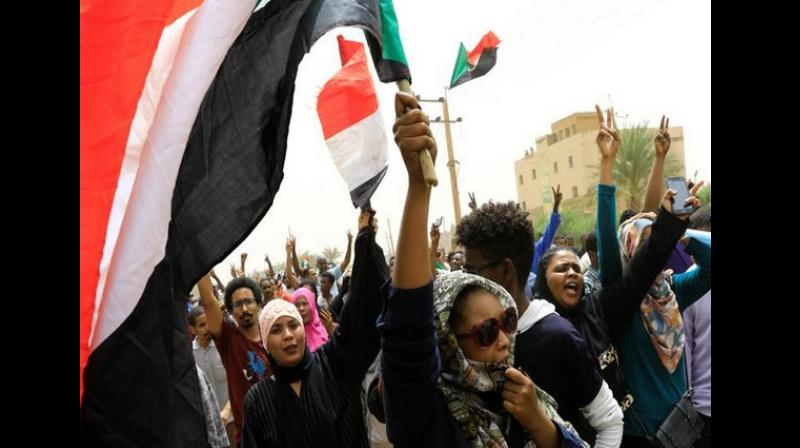 tens of thousands of protestors took to the streets in various Sudanese cities on Sunday. (Photo: ANI)