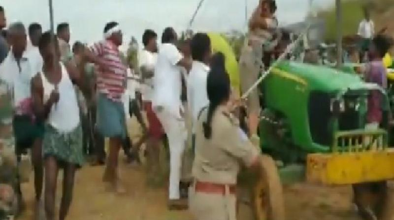 A forest officer, Chole Anita, sustained serious injuries in the attack and was rushed to a hospital for treatment. (Photo: ANI)
