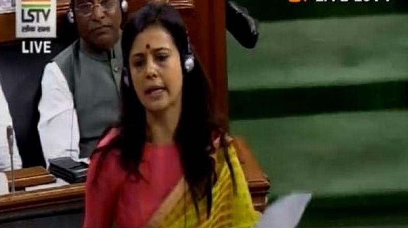 Trinamool Congress (TMC) MP Mahua Moitra on Thursday submitted a breach of privilege motion against Zee TV and its editor Sudhir Chaudhary for allegedly falsely reporting her maiden address in the Lower House of Parliament. (Photo: ANI)