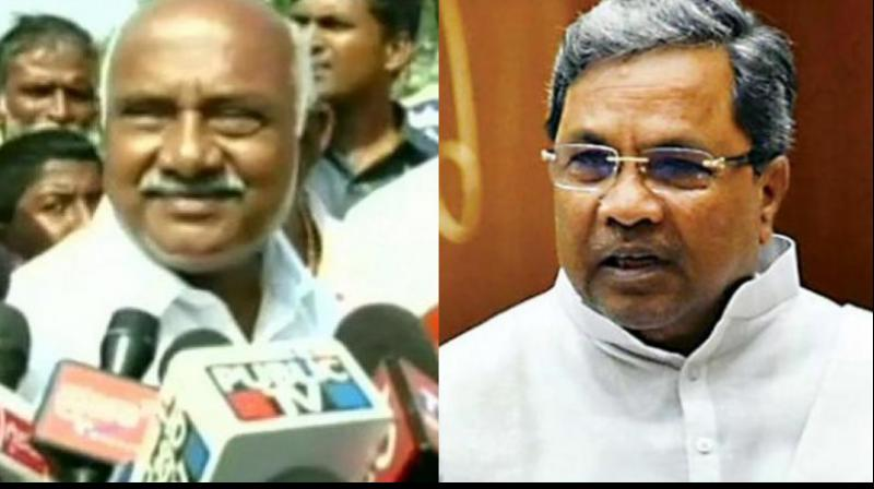 A bitter war of words broke out between Congress leader Siddaramaiah and the outgoing JD(S) state president A H Vishwanath on Thursday, However, the latter stepped down. (Photo: File)