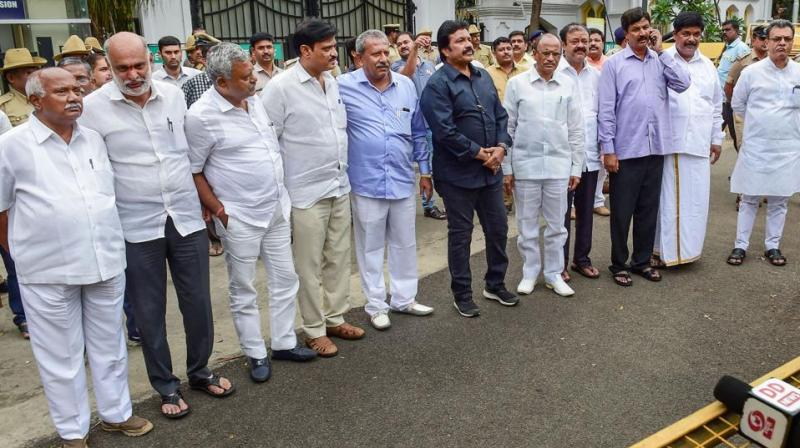 Fourteen MLAs of the ruling JD(S)-Congress coalition in Karnataka, who left Mumbai on Monday evening for Goa, were taken to Pune and are expected to reach the coastal state on Tuesday in a special flight, sources said. (Photo: File)