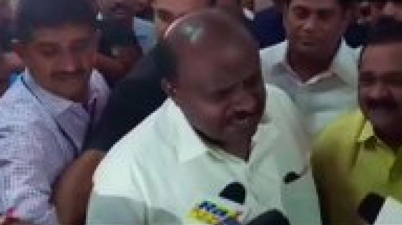 'I don't have any kind of anxiety about the present political development. I don't want to discuss anything about politics,' Karnataka CM Kumaraswamy said after JD(S) MLAs resigned. (Photo: File)
