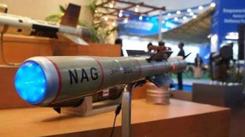 Moving closer toward the induction of the Nag anti-tank guided missiles into the Army, Defence Research and Development Organisation (DRDO) on Sunday carried out three successful test firings of the missiles in the Pokhran firing ranges. (Photo: Twitter/ @prasarbharti)
