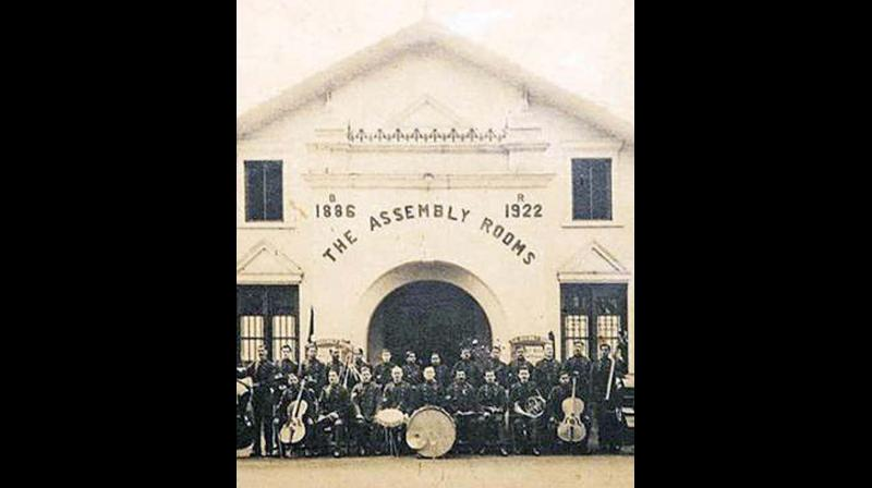 The Assembly Rooms theatre in Ooty in early 1900's.