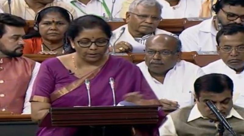 Finance Minister Nirmala Sitharaman presented Union Budget for Modi 2.0 government. (Photo: ANI | Twitter)